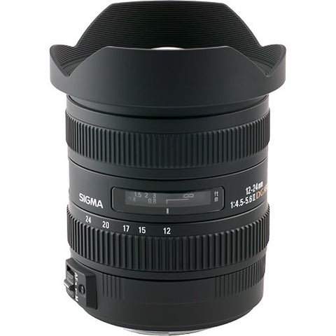 Sigma - 12-24mm f/4.5-5.6 DG HSM II Ultra-Wide Zoom Lens for Select Sony APS-C/Full-Frame DSLR Cameras - Black