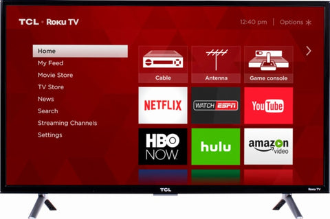 "TCL - 55"" Class (54.6"" Diag.) - LED - 2160p - Smart - 4K Ultra HD TV with High Dynamic Range Roku TV"
