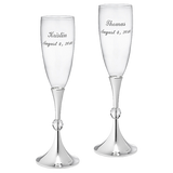 Crystal Ball Toasting Flutes