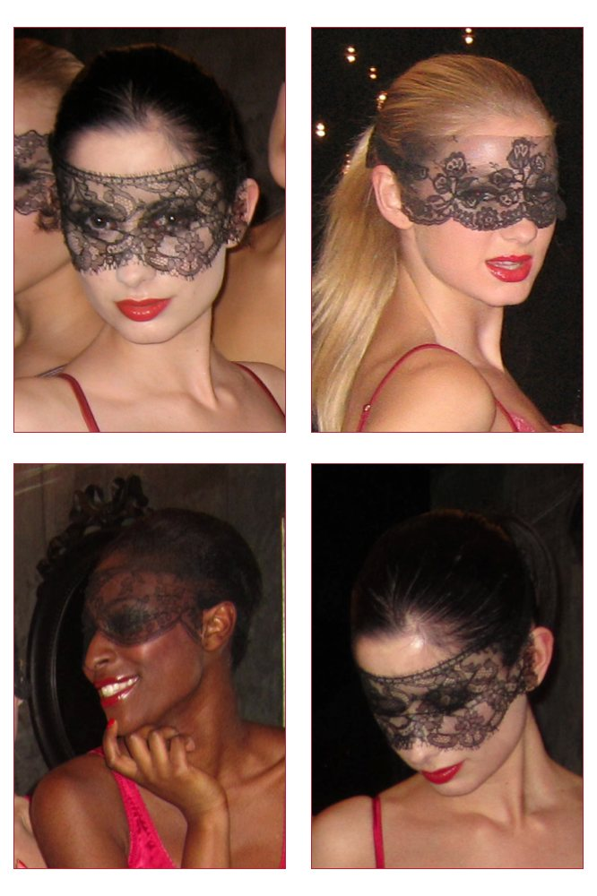 French Chantilly Lace Masks
