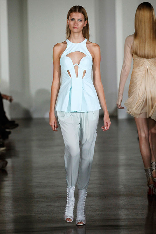 Lingerie Inspired Pale Blue Top at Willow - LFW