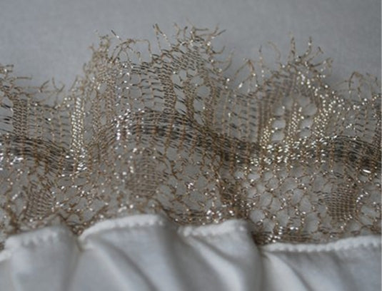 Gold French Chantilly Lace
