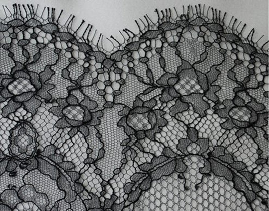 Black French Chantilly Lace