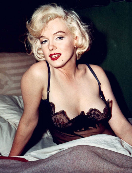 Marilyn Monroe in Black Lace Camisole