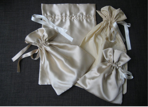 satin lingerie bag
