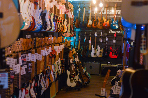 Music Bros. Fender Wall and Ibanez Wall