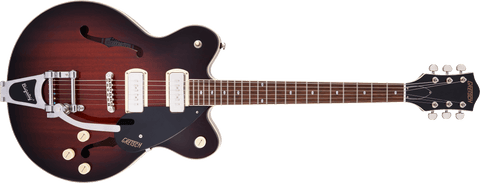 Image of G2622T-P90 STREAMLINER™ CENTER BLOCK DOUBLE-CUT P90 WITH BIGSBY - FORGE GLOW