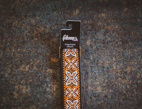 Gibson The Orange Lily Vintage Original Collection Guitar Strap