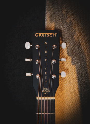 Image of Gretsch G9520E Gin Rickey Smokestack Black Electro-Acoustic Parlour Guitar - Music Bros. Ltd