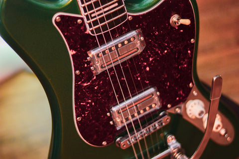Image of Fender Parallel Universe Volume II Maverick Dorado Mystic Pine Green