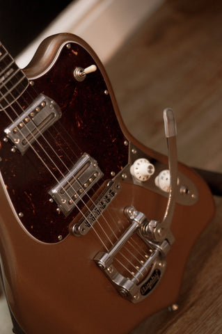 Image of Fender Parallel Universe Volume II Maverick Dorado Firemist Gold