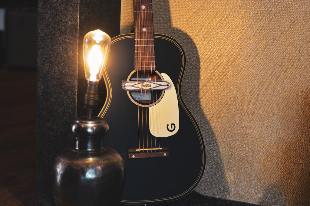 Gretsch G9520E Gin Rickey Smokestack Black Electro-Acoustic Parlour Guitar - Music Bros. Ltd