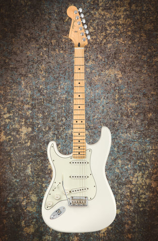 Image of Fender Player Stratocaster Left-Handed, Maple Fingerboard, Polar White