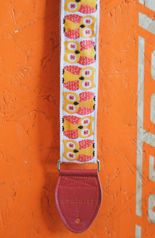 Souldier GS Owls Red Yellow White Guitar Strap