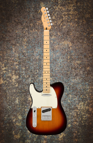 Image of Fender Player Telecaster Left-Handed, Maple Fingerboard, 3-Color Sunburst