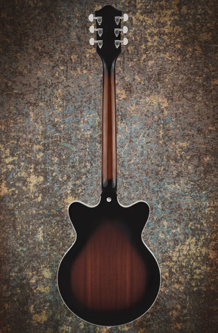 Image of PRE ORDER - G2655-P90 STREAMLINER™ CENTER BLOCK JR. DOUBLE-CUT P90 WITH V-STOPTAIL - BROWNSTONE