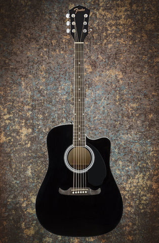 Fender FA-125CE Electro-Acoustic Dreadnought, Black