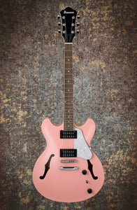 Ibanez AS63-CRP Semi-Hollow Guitar In Coral Pink