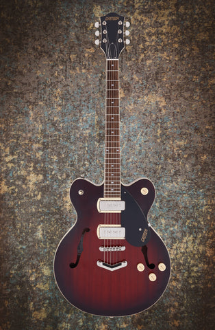 GRETSCH G2622-P90 STREAMLINER™ CENTER BLOCK DOUBLE-CUT P90 WITH V-STOPTAIL - CLARET BURST