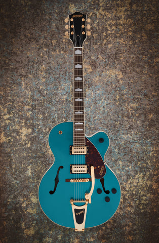 Image of GRETSCH G2410TG STREAMLINER™ HOLLOW BODY SINGLE-CUT WITH BIGSBY® AND GOLD HARDWARE - OCEAN TURQUOISE