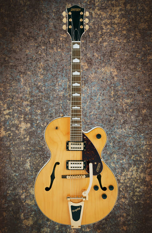 Image of G2410TG STREAMLINER™ HOLLOW BODY SINGLE-CUT WITH BIGSBY® AND GOLD HARDWARE - VILLAGE AMBER