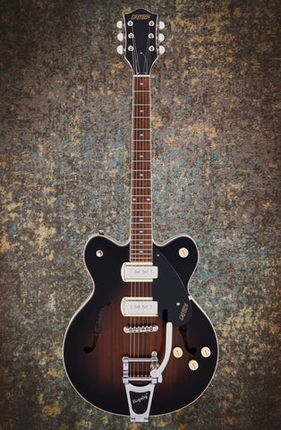 Image of G2622T-P90 STREAMLINER™ CENTER BLOCK DOUBLE-CUT P90 WITH BIGSBY - BROWNSTONE