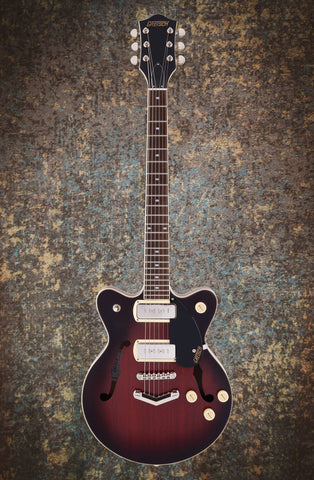 Image of PRE ORDER - G2655-P90 STREAMLINER™ CENTER BLOCK JR. DOUBLE-CUT P90 WITH V-STOPTAIL - CLARET BURST