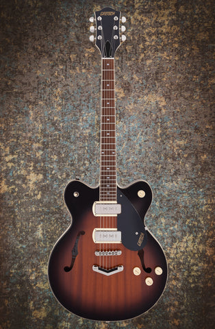Image of GRETSCH G2622-P90 STREAMLINER™ CENTER BLOCK DOUBLE-CUT P90 WITH V-STOPTAIL - HAVANA BURST