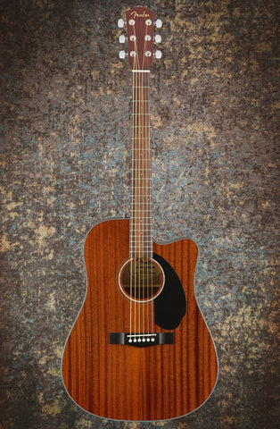 Fender CD-60SCE All-Mahogany Dreadnought, Natural