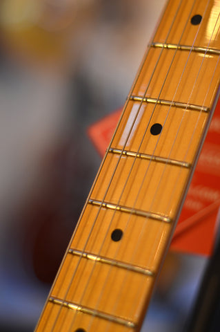 Image of Fender Eric Johnson Thinline Stratocaster with Maple Fretboard 2 Color Sunburst