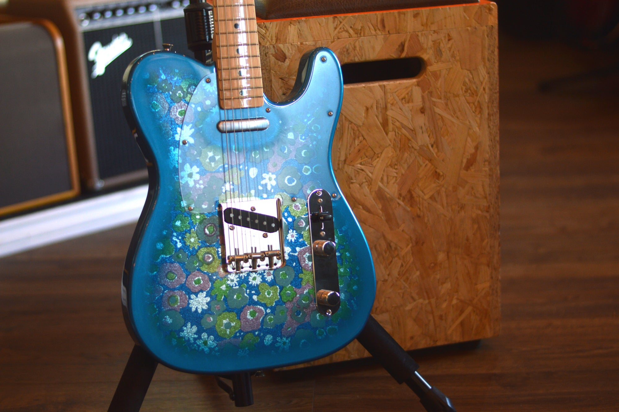 Fender Limited Edition FSR Classic '69 Telecaster MIJ Blue Flower w/ Maple Fretboard