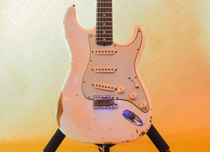 Fender Custom Shop 1959 Stratocaster Heavy Relic - Rosewood 2019 Aged Olympic White