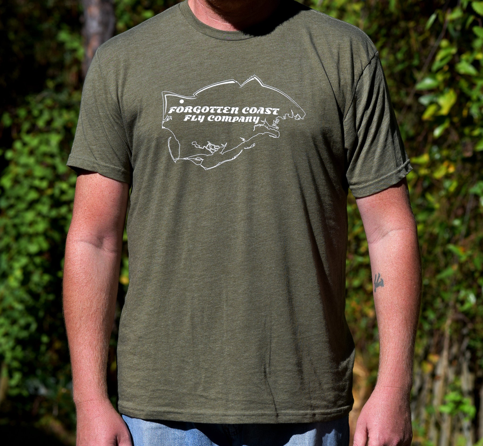 Forgotten Coast Fly Company Men's Short Sleeve T-Shirt Logo