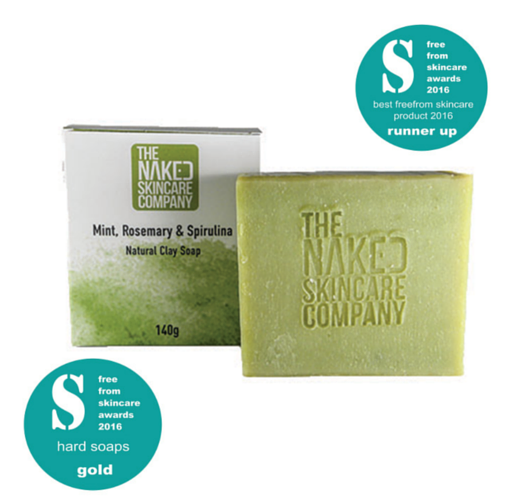 Mint, Rosemary & Spirulina Natural Clay Soap