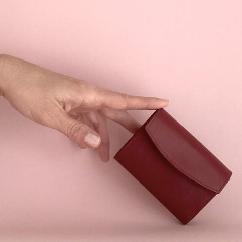 Mini Wallet - Burgundy Red