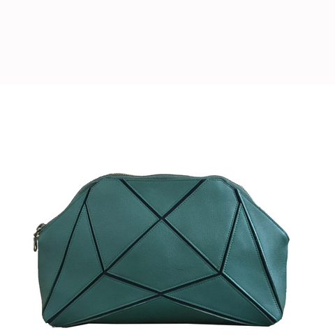 Fold it! Cross body clutch - green
