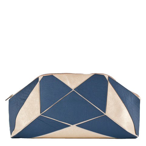 Fold it! XXL Clutch - Blue / Gold