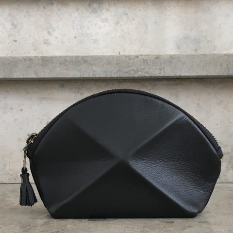 Pyramid cosmetic bag - black