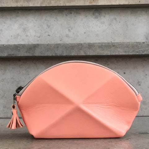 Pyramid cosmetic bag - flamingo
