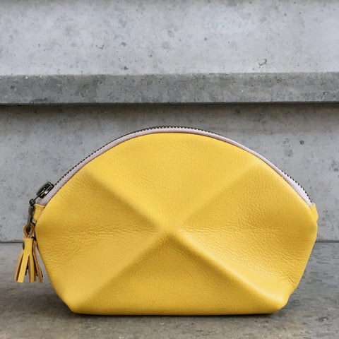 Pyramid cosmetic bag - Yellow