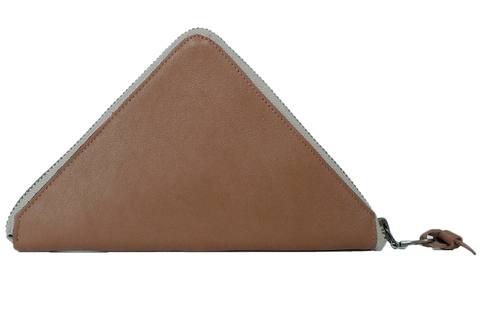 TRAMEZZINI - Triangle Zip Wallet - brown