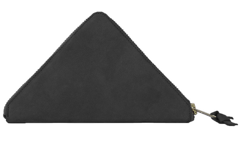TRAMEZZINI - Triangle Zip Wallet - black