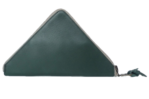 TRAMEZZINI - Triangle Zip Wallet - green
