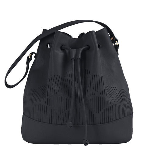 Cut out bucket bag - Black