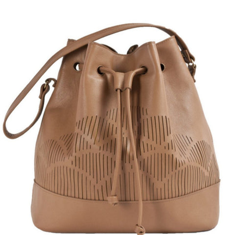 Cut out bucket bag - Brown