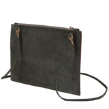 Cut out clutch / cross body bag - green