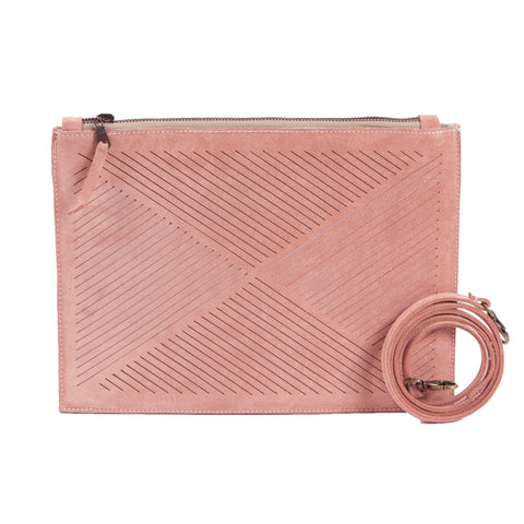 Cut out clutch / cross body bag - powder