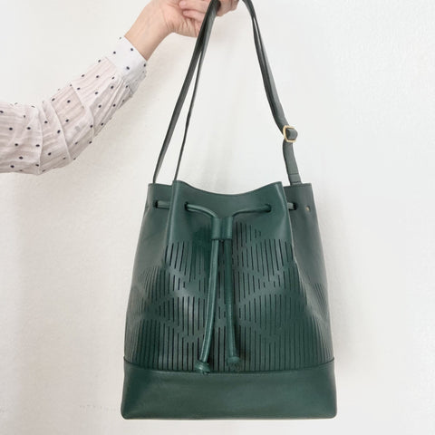 Cut out bucket bag- Green