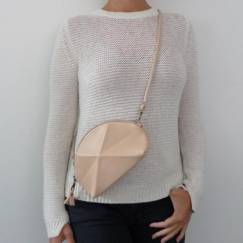 Pyramid Cross Body bag - Ivory