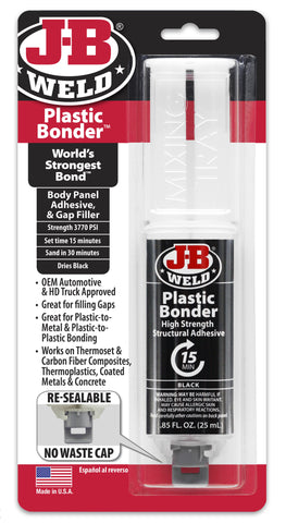 JB Weld Plastic Bonder High Strength Adhesive Strong Glue Syringe 50139